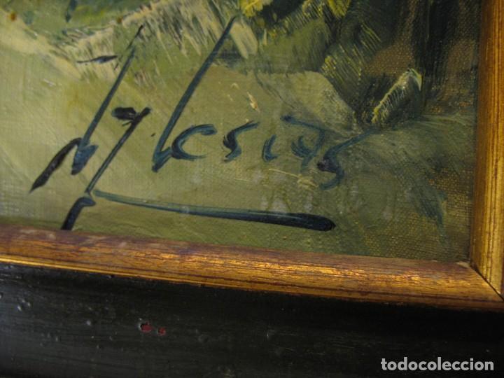 Arte: cuadro al oleo sobre tela firmado - Foto 7 - 277097263