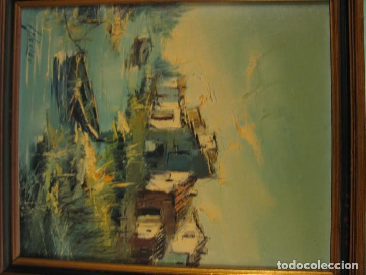 Arte: cuadro al oleo sobre tela firmado - Foto 8 - 277097263