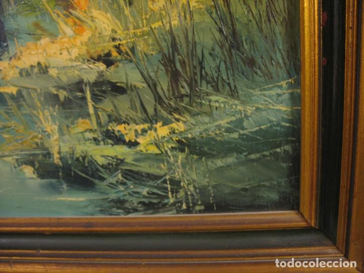 Arte: cuadro al oleo sobre tela firmado - Foto 14 - 277097263