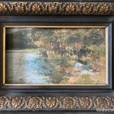 Arte: PINTURA DE ERASMO LASARTE, AÑO 1895. Lote 277114368