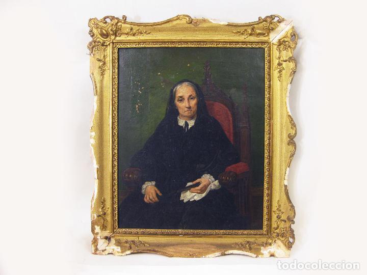 OLEO SOBRE TELA DEL PINTOR FRANCISCO MARTINEZ SALAMANCA Y COSTA. DECORADOR MUSEO DEL PRADO. S XIX (Arte - Pintura - Pintura al Óleo Moderna siglo XIX)