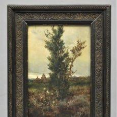 Arte: VISTA DE ERMITE. OLEO S/ TABLA. JOSE VILAR Y TORRES (1828 - 1904). Lote 277191658