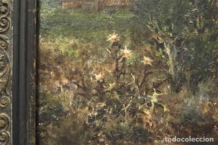 Arte: VISTA DE ERMITA. OLEO S/ TABLA. JOSE VILAR Y TORRES (1828 - 1904) - Foto 2 - 277191658