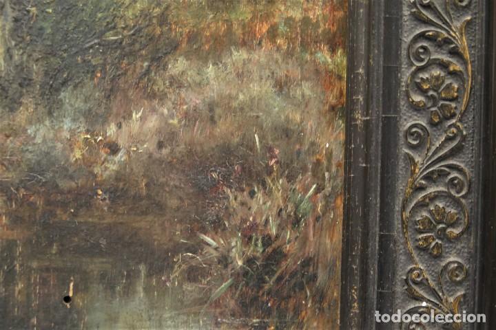Arte: VISTA DE ERMITA. OLEO S/ TABLA. JOSE VILAR Y TORRES (1828 - 1904) - Foto 4 - 277191658