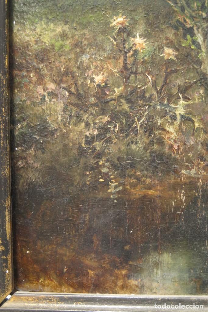 Arte: VISTA DE ERMITA. OLEO S/ TABLA. JOSE VILAR Y TORRES (1828 - 1904) - Foto 9 - 277191658