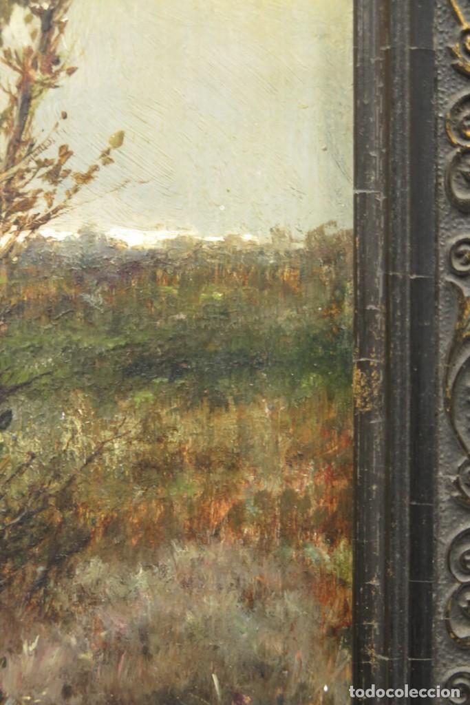 Arte: VISTA DE ERMITA. OLEO S/ TABLA. JOSE VILAR Y TORRES (1828 - 1904) - Foto 10 - 277191658