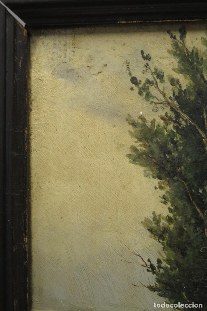 Arte: VISTA DE ERMITA. OLEO S/ TABLA. JOSE VILAR Y TORRES (1828 - 1904) - Foto 12 - 277191658