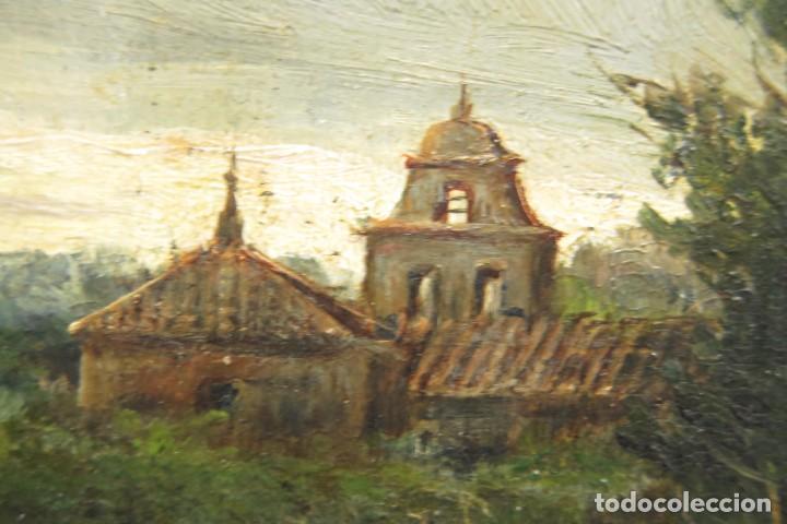 Arte: VISTA DE ERMITA. OLEO S/ TABLA. JOSE VILAR Y TORRES (1828 - 1904) - Foto 13 - 277191658