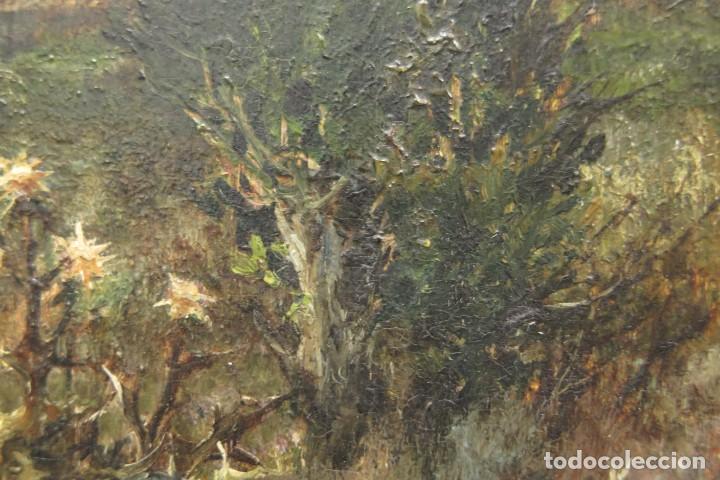 Arte: VISTA DE ERMITA. OLEO S/ TABLA. JOSE VILAR Y TORRES (1828 - 1904) - Foto 14 - 277191658
