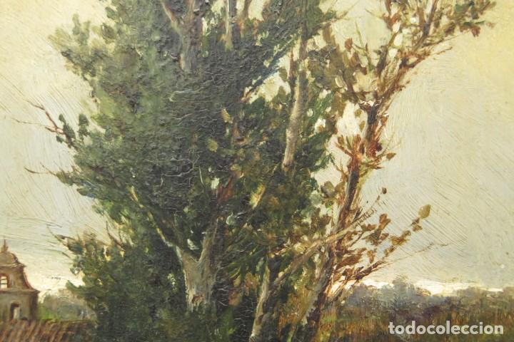 Arte: VISTA DE ERMITA. OLEO S/ TABLA. JOSE VILAR Y TORRES (1828 - 1904) - Foto 15 - 277191658