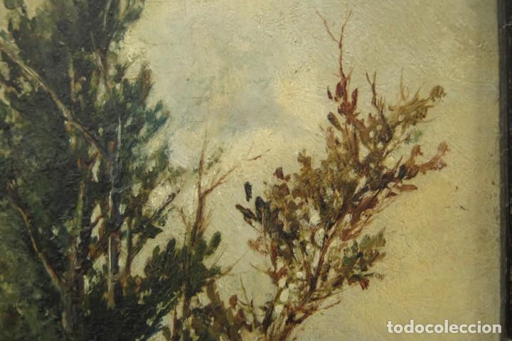 Arte: VISTA DE ERMITA. OLEO S/ TABLA. JOSE VILAR Y TORRES (1828 - 1904) - Foto 16 - 277191658