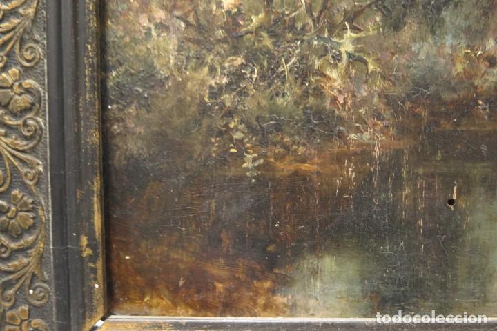 Arte: VISTA DE ERMITA. OLEO S/ TABLA. JOSE VILAR Y TORRES (1828 - 1904) - Foto 18 - 277191658