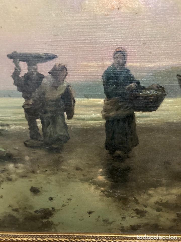 Arte: Pescadoras con cestas y barcas, por R Ramírez - Foto 3 - 277197438