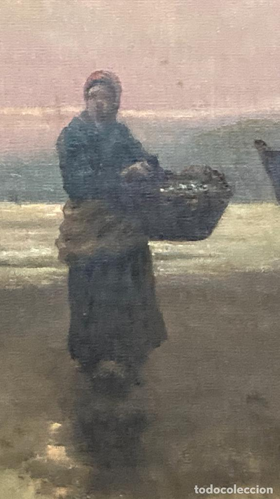 Arte: Pescadoras con cestas y barcas, por R Ramírez - Foto 5 - 277197438