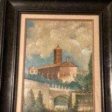 Arte: VISTA DE IGLESIA DE S.MIGUEL Y PUENTE DE S.JOSÉ, DE ZARAGOAZA, POR IGNACIO INZA Y PÉREZ CABALLERO. Lote 277200648