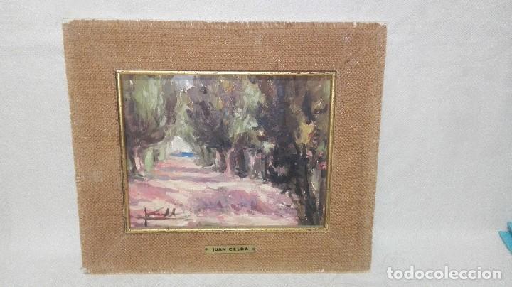 BONITO PAISAJE PINTADO AL ÓLEO DE JUAN CELDA (Arte - Pintura - Pintura al Óleo Contemporánea )