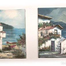 Art: 2 PINTURAS ORIGINALES AL OLEO SOBRE LIENZO TAMAÑO 38X46. Lote 277414413