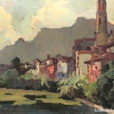 Art: JOSEP FERRÉ REVASCALL - PINTURA SOBRE MADERA -. Lote 277558908
