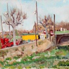 Arte: RAFAEL SERRAHIMA BOFILL (1910 - ??) OLEO SOBRE TELA. VISTA URBANA. 60 X 73 CM.. Lote 277601203