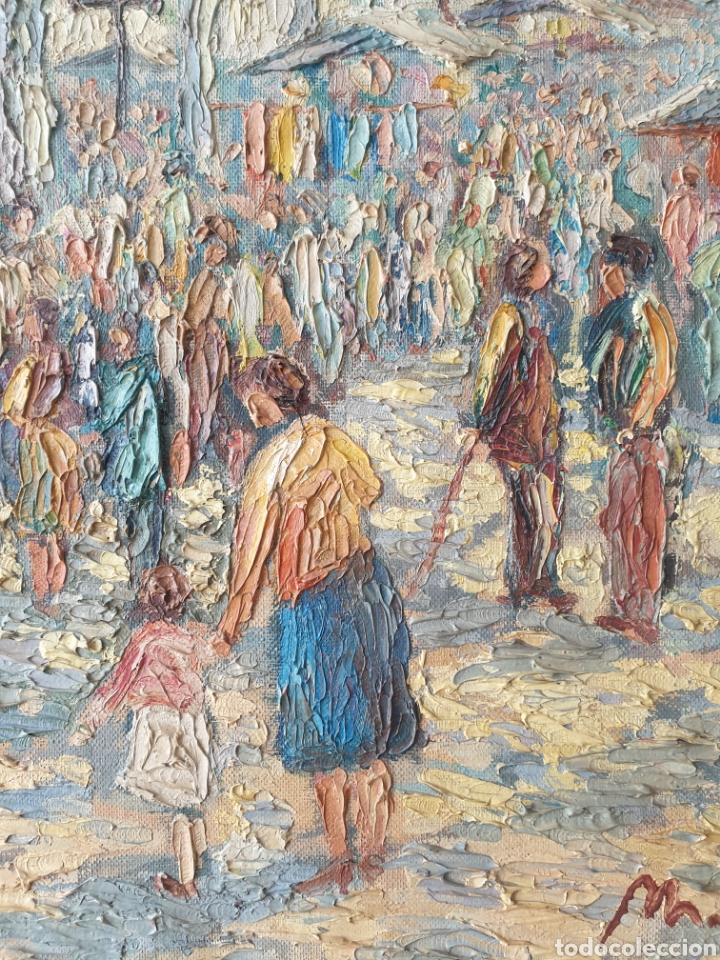 Arte: Marià Vayreda Canadell (XX) - Escenas de Mercado.Oleo/Tela.Firmado.1950. - Foto 3 - 277526303