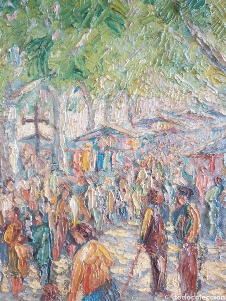 Arte: Marià Vayreda Canadell (XX) - Escenas de Mercado.Oleo/Tela.Firmado.1950. - Foto 4 - 277526303