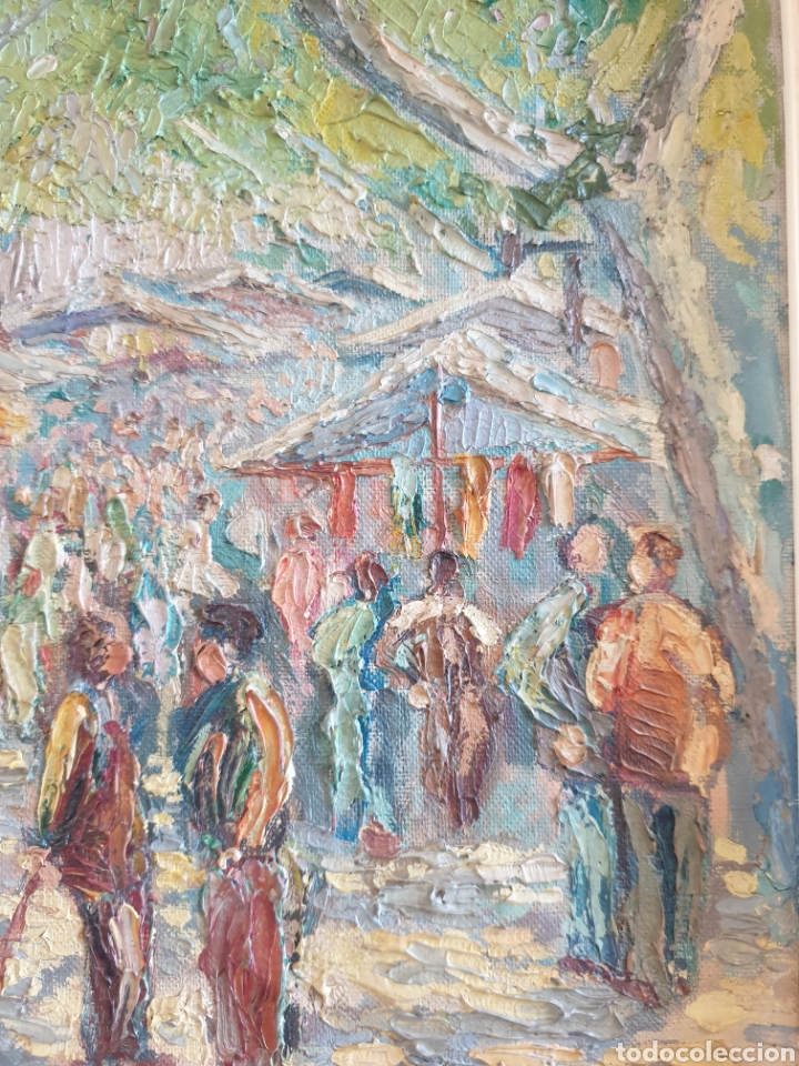 Arte: Marià Vayreda Canadell (XX) - Escenas de Mercado.Oleo/Tela.Firmado.1950. - Foto 5 - 277526303