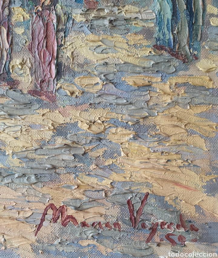 Arte: Marià Vayreda Canadell (XX) - Escenas de Mercado.Oleo/Tela.Firmado.1950. - Foto 10 - 277526303