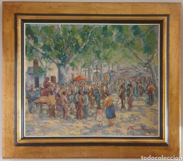 MARIÀ VAYREDA CANADELL (XX) - ESCENAS DE MERCADO.OLEO/TELA.FIRMADO.1950. (Arte - Pintura - Pintura al Óleo Contemporánea )