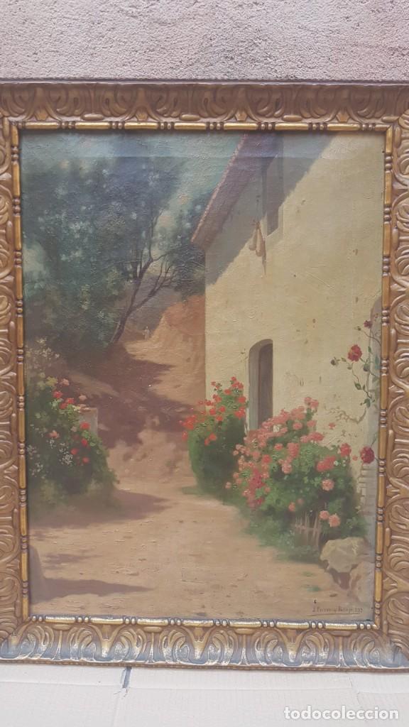Arte: PAISAJE CALLE RURAL JOAQUIN FERRER Y PALLEJA (1845-1945) - Foto 2 - 277618233