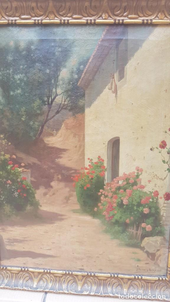 Arte: PAISAJE CALLE RURAL JOAQUIN FERRER Y PALLEJA (1845-1945) - Foto 4 - 277618233
