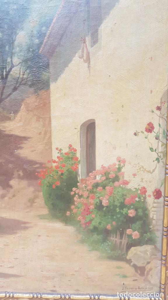 Arte: PAISAJE CALLE RURAL JOAQUIN FERRER Y PALLEJA (1845-1945) - Foto 5 - 277618233