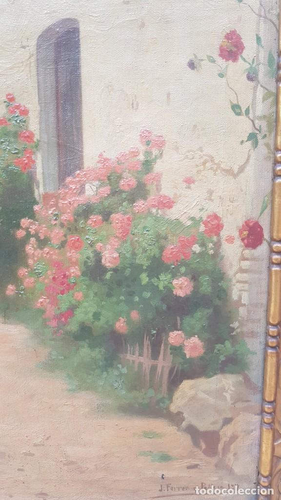 Arte: PAISAJE CALLE RURAL JOAQUIN FERRER Y PALLEJA (1845-1945) - Foto 6 - 277618233