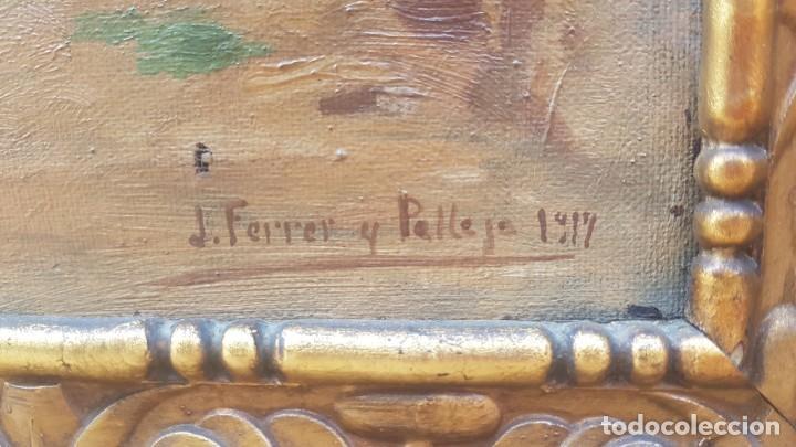 Arte: PAISAJE CALLE RURAL JOAQUIN FERRER Y PALLEJA (1845-1945) - Foto 13 - 277618233