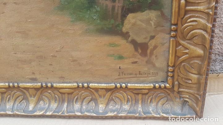 Arte: PAISAJE CALLE RURAL JOAQUIN FERRER Y PALLEJA (1845-1945) - Foto 16 - 277618233