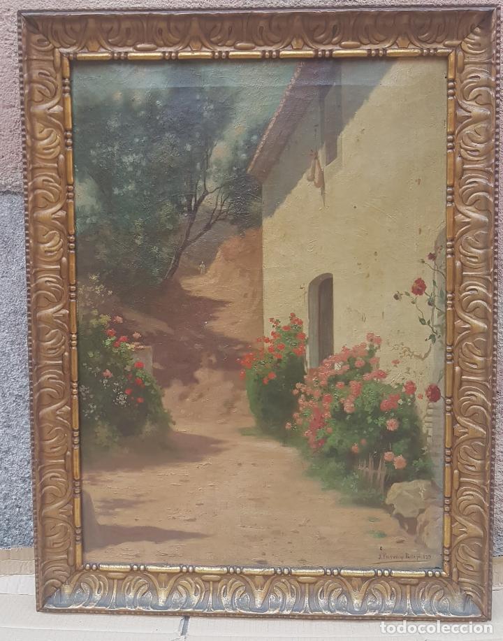 PAISAJE CALLE RURAL JOAQUIN FERRER Y PALLEJA (1845-1945) (Arte - Pintura Directa del Autor)