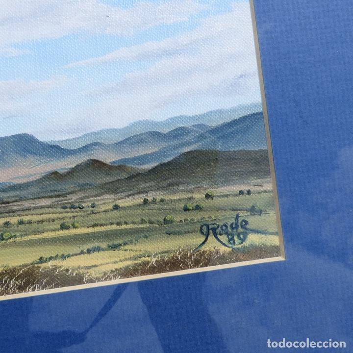Arte: Roger rode? Paisaje solitario firmado rode, 1989 - Foto 5 - 277718883