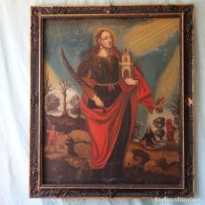 Arte: OLEO SOBRE LIENZO DE SANTA BARBARA DEL SIGLO XVIII. OIL ON CANVAS SAINT BARBARA, 18TH CENTURY.. Lote 277721023