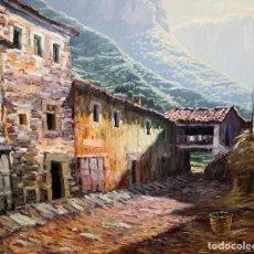 Arte: PERE COLLDECARRERA (OLOT, 1932 - 2020) OLEO SOBRE TELA. VISTA DE UN PUEBLO. 65 X 81 CM.. Lote 277722088