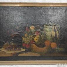 """Arte: """"BODEGÓN"""" ESCUELA ESPAÑOLA, DE PRINCIPIOS DEL SIGLO XIX. ÓLEO SOBRE LIENZO. SIN FIRMAR.. Lote 277726253"""