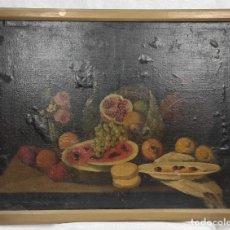 """Arte: """"BODEGÓN"""" ESCUELA ESPAÑOLA, DE PRINCIPIOS DEL SIGLO XIX. ÓLEO SOBRE LIENZO. SIN FIRMAR.. Lote 277726533"""