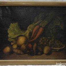 """Arte: """"BODEGÓN"""" ESCUELA ESPAÑOLA, DE PRINCIPIOS DEL SIGLO XIX. ÓLEO SOBRE LIENZO. SIN FIRMAR.. Lote 277726903"""