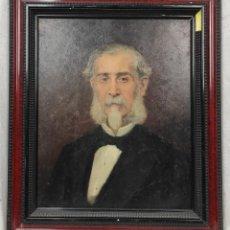 Arte: RETRATO DE ISIDRO MUNTADAS DE FRANCESC MIRALLES GALAUP (1848-1901), DEL SIGLO XIX. ÓLEO SOBRE TABLA.. Lote 277727228