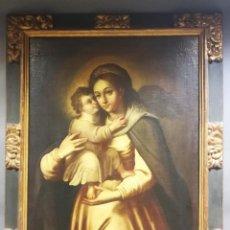 Arte: PINTURA RELIGIOSA VIRGEN CON EL NIÑO JESUS SIGLO XIX. Lote 277740448