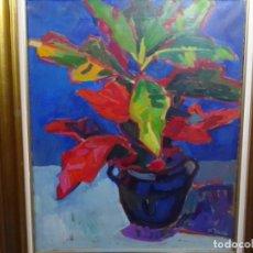 Arte: ÓLEO SOBRE TELA EXPRESIONISTA FIRMADO P. RAICH. TRAZO SEGURO. GRAN COLORIDO. BIEN ENMARCADO.. Lote 277844393