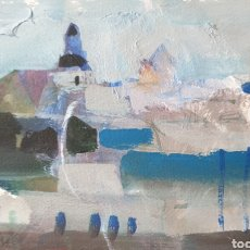 Arte: RAFAEL GRIERA CALDERÓN (LAS PALMAS,1934 - OLOT, 2018) - PAISAJE COSTERO,ESTAMBUL?OLEO.FIRMADO.. Lote 277832343
