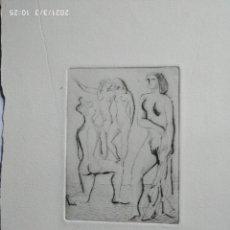 Arte: HANS VAN NORDEN 10 X 7,5 CM APROX. 1915-2011 CARBONCILLO SOBRE PAPEL DENSO. Lote 278275668