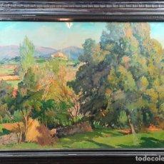 Arte: PAISAJE RURAL. JOSE MARIA VILA CAÑELLAS. ÓLEO SOBRE LIENZO. 1940.. Lote 278325608