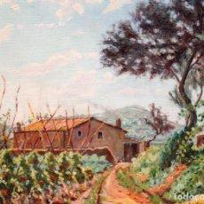Arte: MANUEL ROIG VERICAT (1893-1968) OLEO SOBRE TELA. PAISAJE. 54 X 65 CM.. Lote 278448318