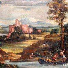 Arte: ALEJO MUNTANER LLULL (MANACOR, 1920 - ??) OLEO SOBRE TELA (D'APRES DU ANNIBALE CARRACCI) 89 X 130 CM. Lote 278448638