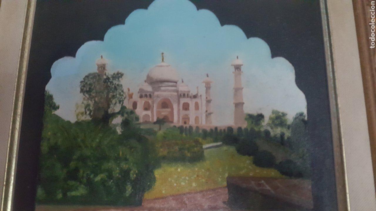 Arte: Precioso cuadro de Palacio Árabe realizado en Oleo sobre lienzo con firma de autor. Ver descripción - Foto 3 - 278615093